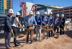 The CREDE Construction Management team breaking ground at the new development in Phoenix Arizona