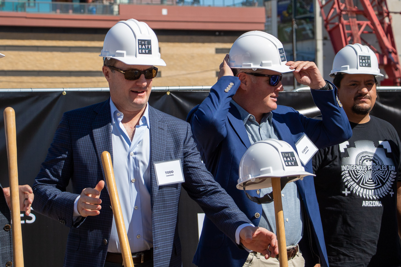 Todd Chapman CEO of JMA Ventures during the ground breaking ceremony at The Battery